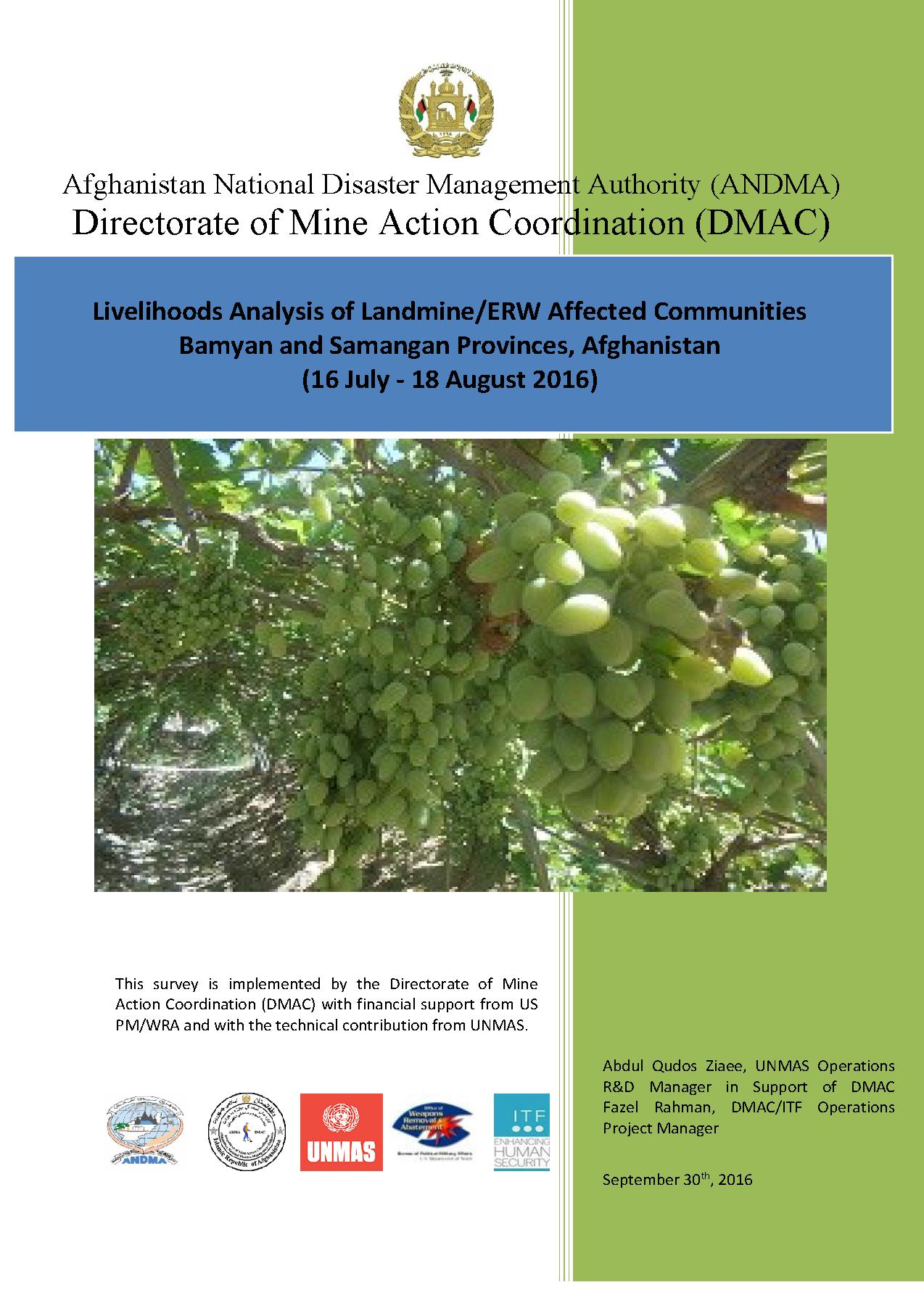 MAPA Landmine & Livelihood Survey-REPORT 2016