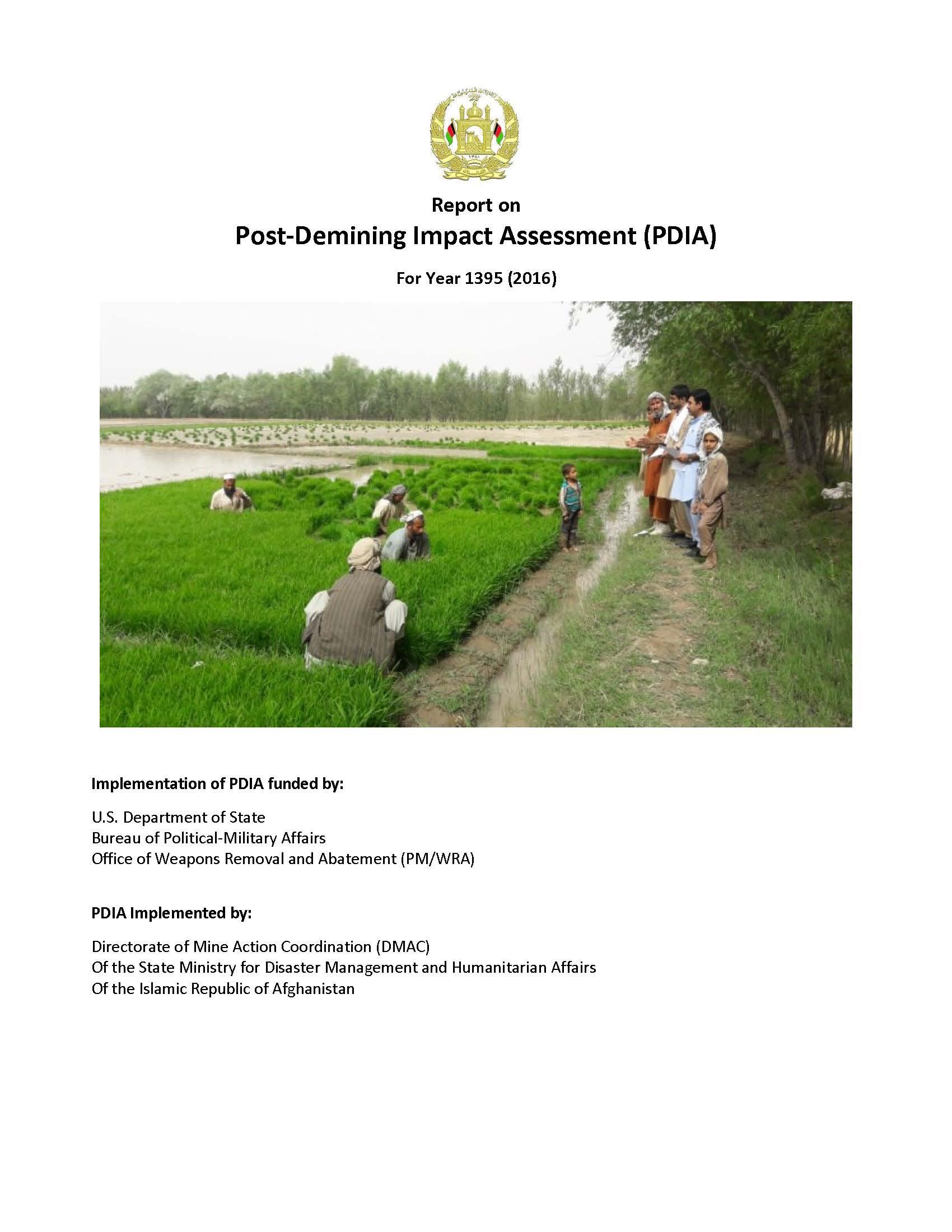 MAPA Post-Demining Impact Assessment (PDIA)