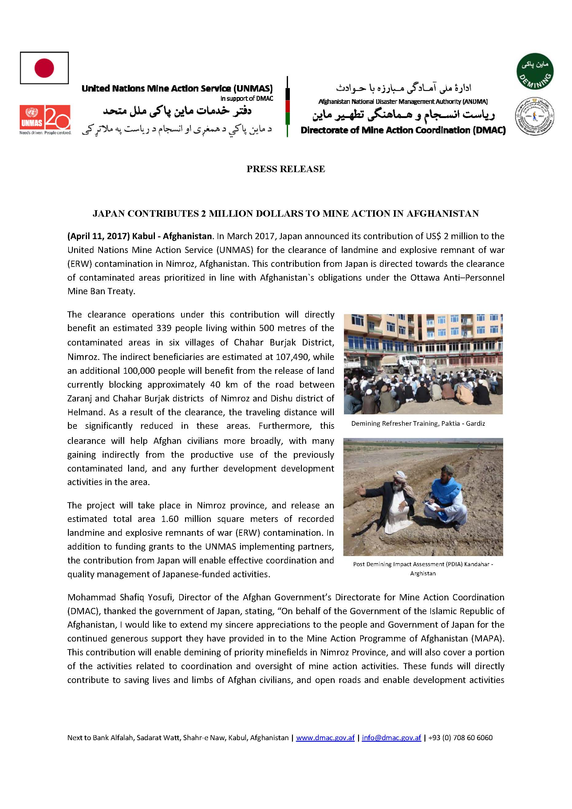 Press Release Japan VTF Funding 1396 Nimroz Page 1